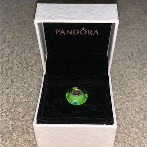 Pandora Jewelry - Pandora Green with Blue Dots Charm
